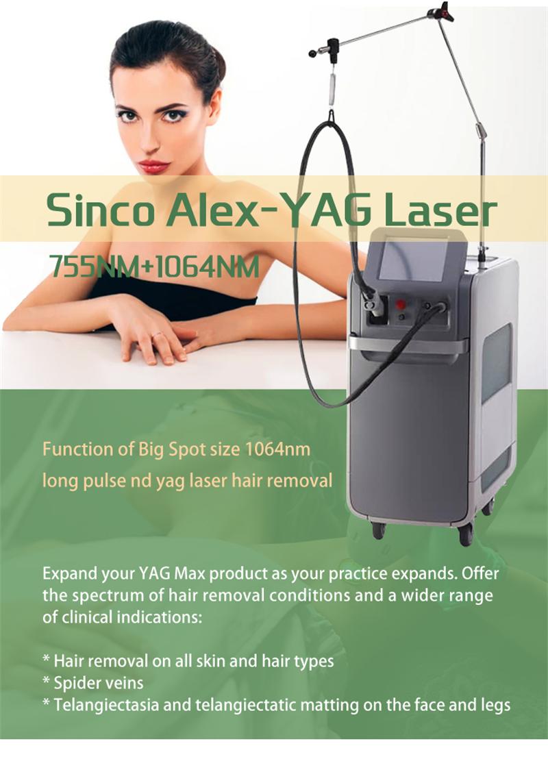 Topsincoheren star machine – 755 Sinco-Alex Yag laser machine